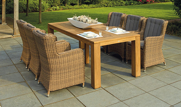 Add some seating to your patio area.